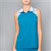 Denise Cronwall Trista Teal Polo