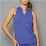 Denise Cronwall Sleeveless Collar Top - Scotia Blue