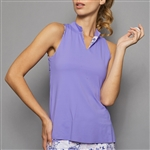 Denise Cronwall Sleeveless Collar Top - Serenity Lilac