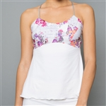 Denise Cronwall Spaghetti Strap Top - Army of Lovers White