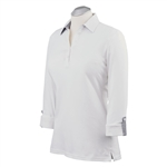 Bobby Jones Adjustable Summer White Long Sleeve Polo