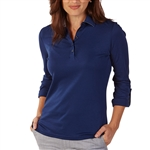 Bobby Jones Adjustable Summer Navy Long Sleeve Polo