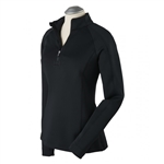 Bobby Jones Madeleine 1/4 Zip Mock - Black