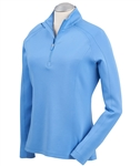 Bobby Jones Madeleine 1/4 Zip Mock - Sky Blue
