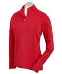 Bobby Jones Madeleine 1/4 Zip Mock - Cambridge Red