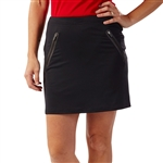Bobby Jones Tech Solid Black Golf Skort