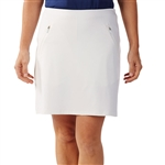 Bobby Jones Tech Solid White Golf Skort