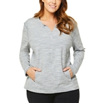 SHAPE PLUS Modern Zen Heather Grey Pullover
