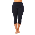 SHAPE PLUS Active Hi Rise SS Black Capri