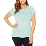 SHAPE PLUS Active Paige Brooke Green Fitness Tee
