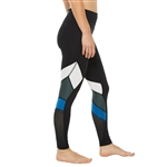 SHAPE Courtship Pacesetter Legging - Caviar Black/Everglade
