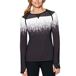 SHAPE Long Sleeve Active Top - Feathers