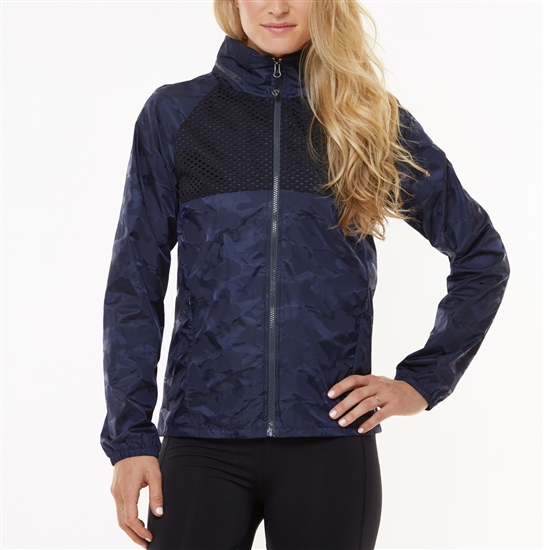 SHAPE Glamper Wind Jacket - Ombre Blue/Black Camo