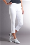 Swing Control Basic Fairway Crop Pant - White