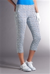 Swing Control Basic Fairway Crop Pant - Checky