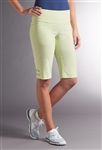 Swing Control Eyelet Masters Golf Short - Lime Gingham