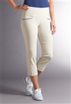Swing Control Master Contrast Crop Pant - Stone