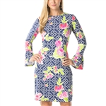 IBKUL Ashly UPF50 Bell Sleeve Dress