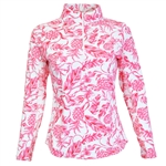 IBKUL PF 50 Sun Shirt - Pineapple Pink