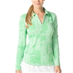 IBKUL Diane UPF 50 Sun Shirts - Kelly Green