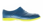 BIION Brights Golf Shoe - Navy & Green Yellow