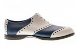 BIION Wingtips Golf Shoe - Silver & Navy
