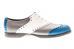 BIION Wingtips Golf Shoe - Blue, White & Silver