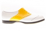 BIION Saddle Golf Shoe - White/Yellow