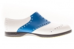 BIION Saddle Golf Shoe - White/Blue