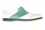 BIION Saddle Golf Shoe - White & Mint
