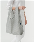 BAGGU Reusable Shopping Bag - Grey Grid