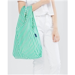 BAGGU Reusable Shopping Bag - Mint Stripe