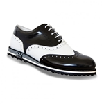 Lambda Leather Golf Shoe - Lucca Black/White