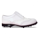 Lambda Venezia Leather Golf Shoe - White Croco