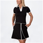 Scratch70 Charlotte Short Sleeve Golf Dress - Black