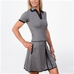 Scratch70 Charlotte Short Sleeve Golf Dress - Grey Heather