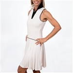 Scratch70 Julia Sleeveless Golf Dress - White