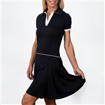 Scratch70 Juliana Short Sleeve Golf Dress - Navy