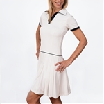 Scratch70 Juliana Short Sleeve Golf Dress - White