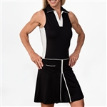 Scratch70 Lizzie Sleeveless Color Blocked Dress - Black