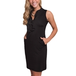 Tee2Sea Sleeveless Ruffle Golf Dress - Little Black