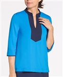 KINONA Always Working Golf Tunic Top - Deep Turquoise
