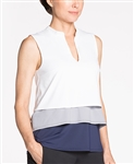 KINONA Cool & Collected Sleeveless Golf Top - White