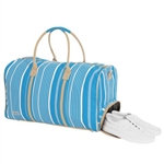 Ame & Lulu Ticking Stripe Out Of Dodge Duffel