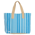 Ame & Lulu Land to Sand Beach Tote - Ticking Stripe