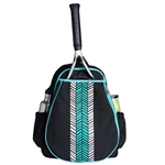Ame & Lulu Love All Tennis Backpack -  Aqua Shutters