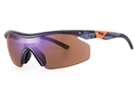 Sundog Women's Pace TrueBlue Lens Sunglasses - Crystal Grey/Orange