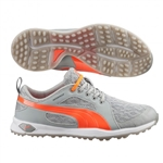 Puma Biofly Mesh Golf Shoe - White/Fluro Peach