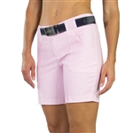 JoFit Belted Golf Short Bloom Check