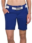 JoFit Belted Golf Short - Blue Depth